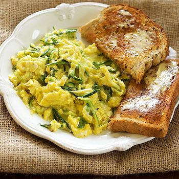 Zucchini With Scrambled Eggs