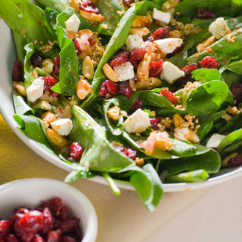 Chop Salad With Dried Cranberries and Ricotta Salata