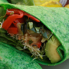 Light and Tasty Veggie Wrap