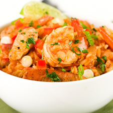 Latin Chicken with Shrimp
