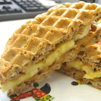 Waffle Sandwich with Apple Syrup