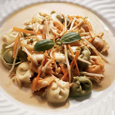 Cheese Tortellini with Vegetables