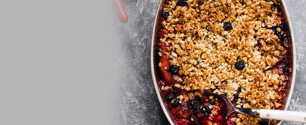 Red, White and Blueberry Crisp